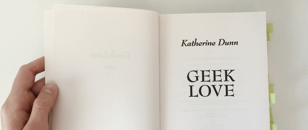 Inside cover of Geek Love
